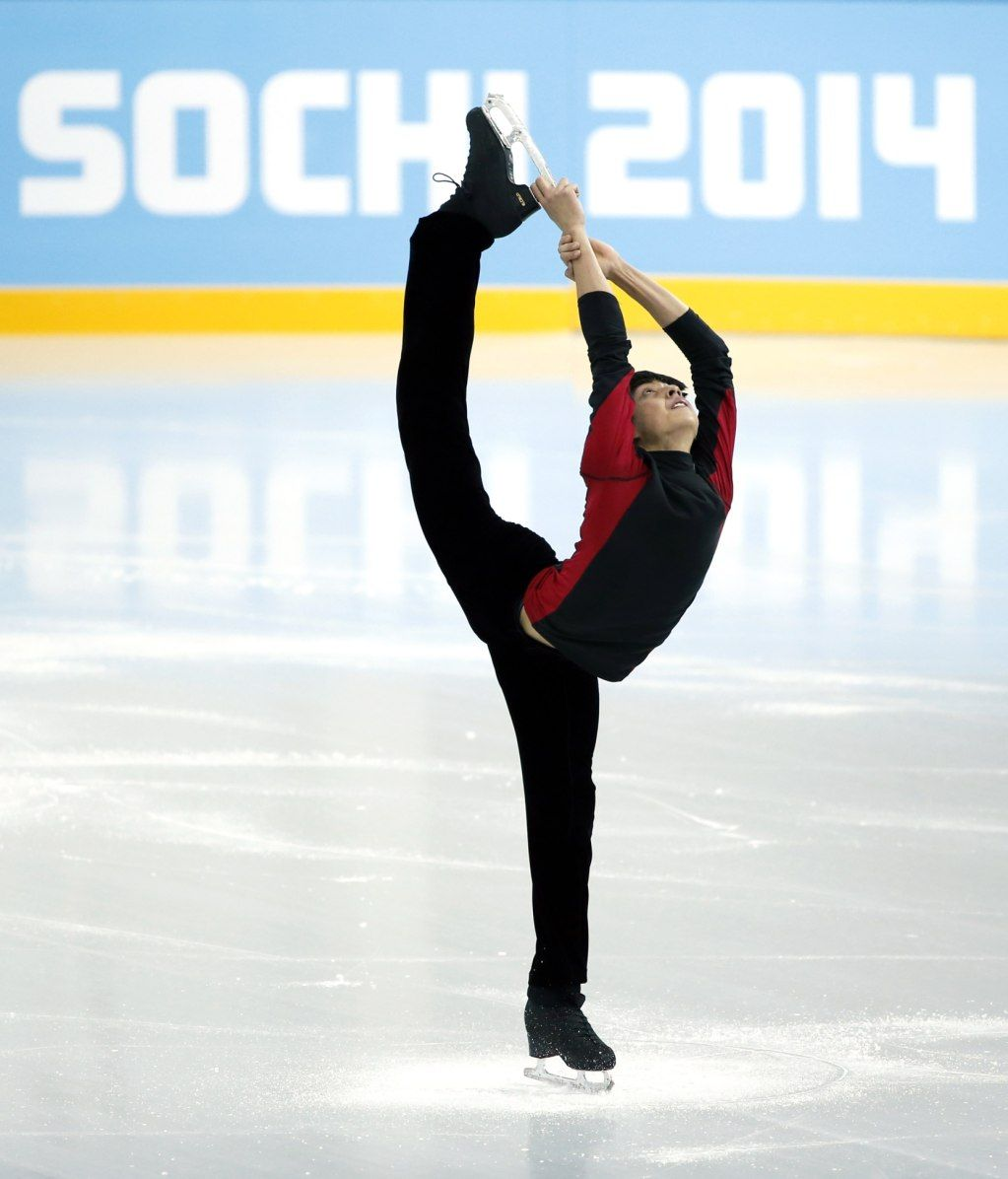 Martinez of the Philippines skates during a figure skating