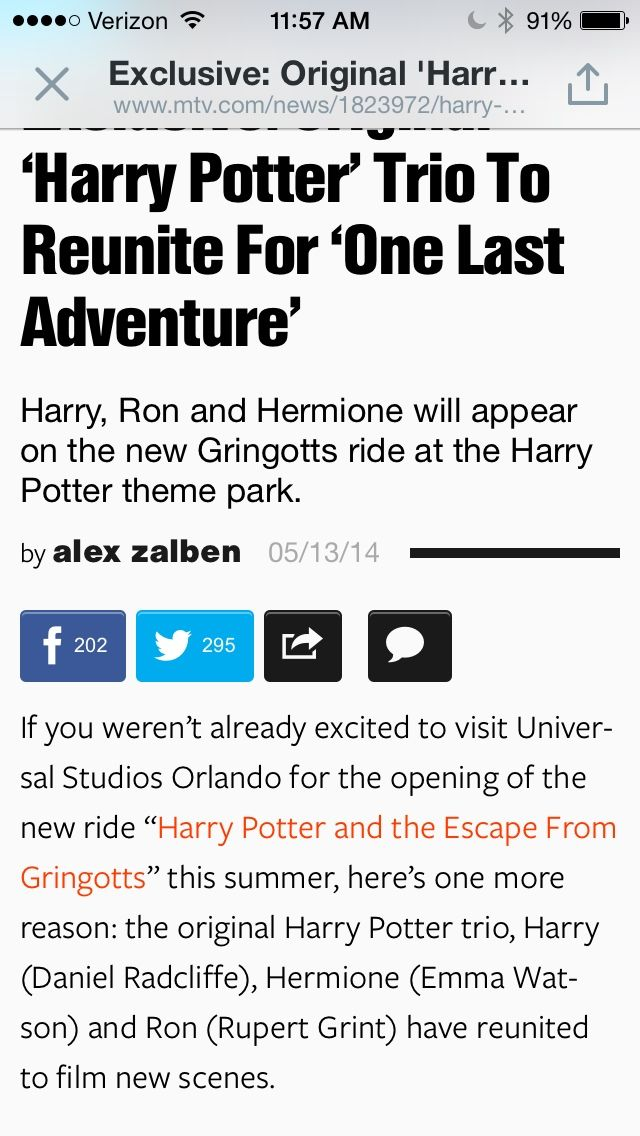 michellevallese: Is it sad that I'm more excited about Dan, Emma, and Rupert reuniting than I am about the ride?