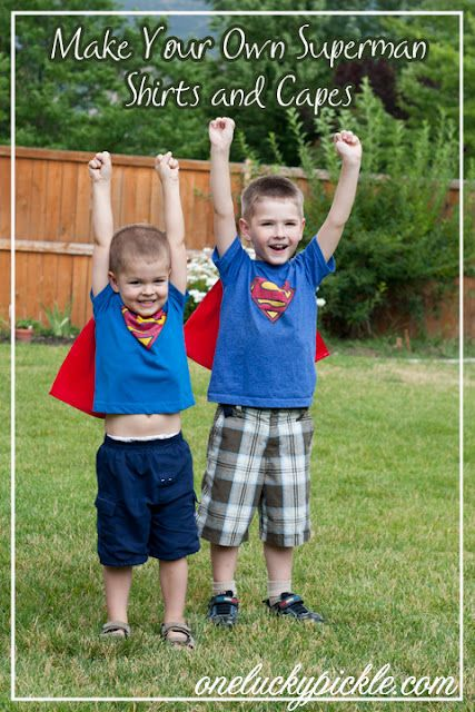 It 39 s superman time how to make your own superman shirt for Make your own superman shirt