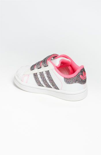 adidas 'Superstar' Sneaker (Baby, Walker & Toddler (con