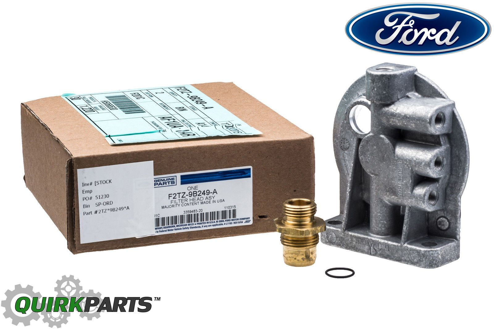 medium resolution of ford f250 f350 6 9l 7 3l idi diesel fuel filter housing header f2tz9b249a ebay