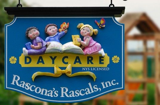 Rascona S Rascals Day Care Sign School Signs School Murals Daycare