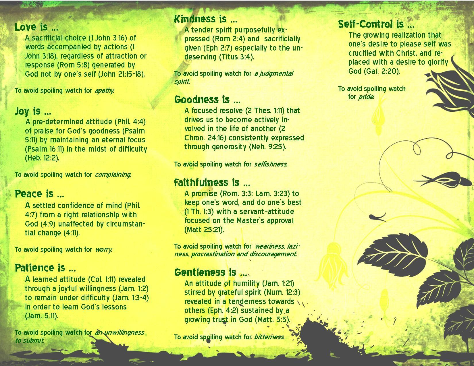 Fruit of the Spirit church tea table theme. Description from ...
