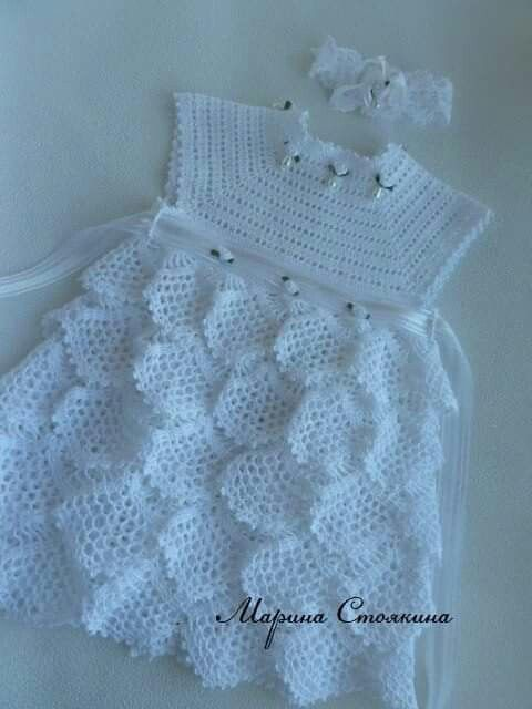 Crochet frock | romanian point lace | Pinterest | Vestido infantil ...
