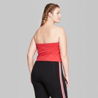 73ce6e2d3ecc9 Women s Plus Size Tube Top - Wild Fable Berry (Pink) 4X
