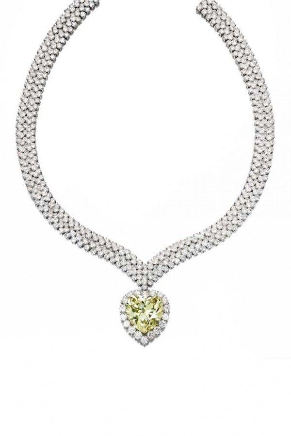 Fancy Intense Yellow Diamond and Diamond Pendant-Necklace, Van Cleef & Arpels, New York, 1978
