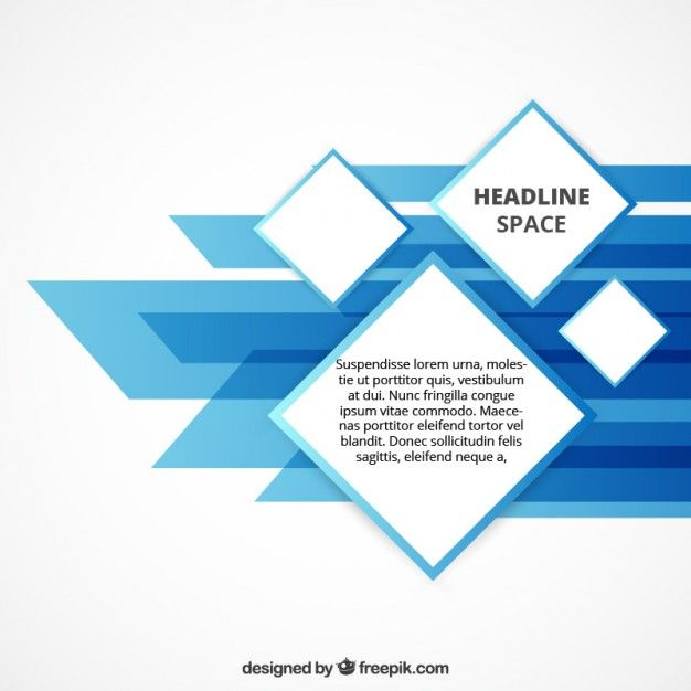 Abstract geometric template Free Vector | stock | Report layout