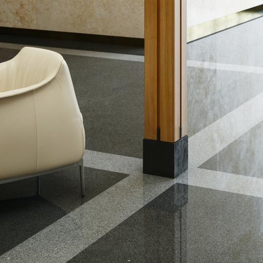 Šedočerná Cementová Podlaha Lixio S Vysokým Leskem Podlahy Boca Gray And Black Cement Floor With The High Gloss