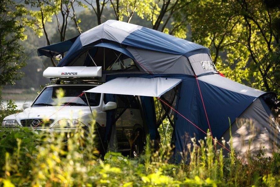 Innovative roof top tent by South Korean company, it is