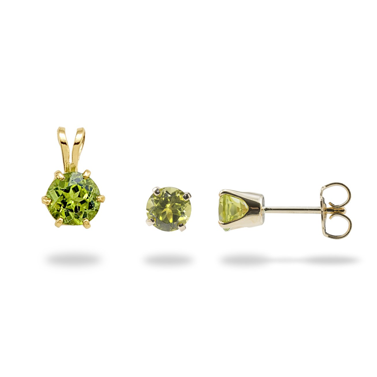 b029642ea Peridot Pendant and Earrings in 14K Yellow Gold Set | Products