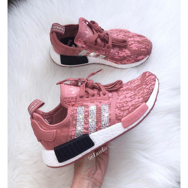 Adidas Nmd r1 Raw pink/trace Pink Legend Ink Customized With Swarovski.