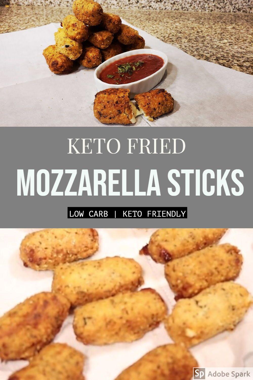 Easy homemade keto mozzarella sticks recipe in 2020