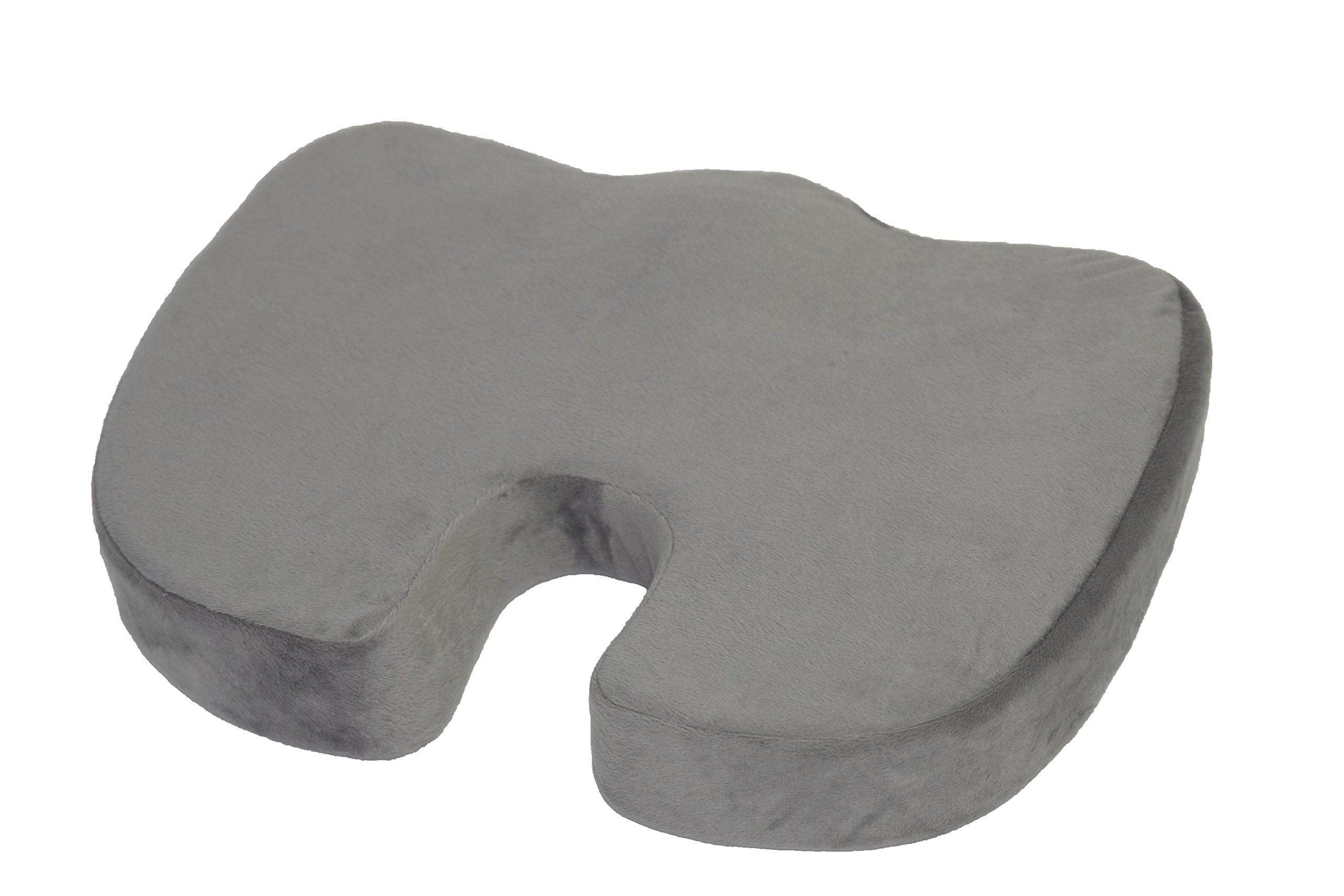 Coccyx Seat Cushion Cool Gel Memory Foam Orthopedic Cushion