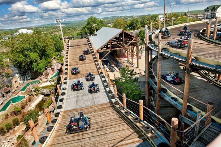 Wild Woody A Four Story High Wooden Go Kart Track Branson Missouri Vacation Branson Vacation Go Kart Tracks