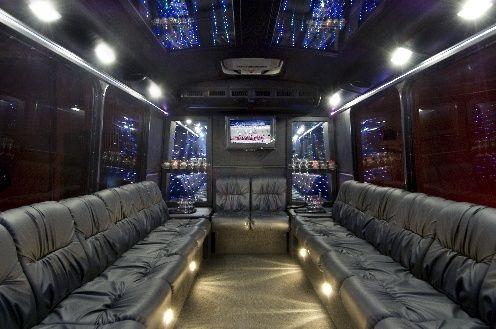 Limousine Van Mercedes Benz Sprinter Limousine Wedding Transportation Party Bus