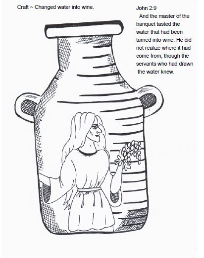 Jesus turned the water into wine ~ Lesson, craft and