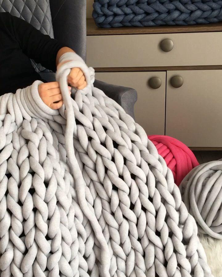 Photo of Wie macht man eine grob gestrickte Decke mit Arm oder unnötig?