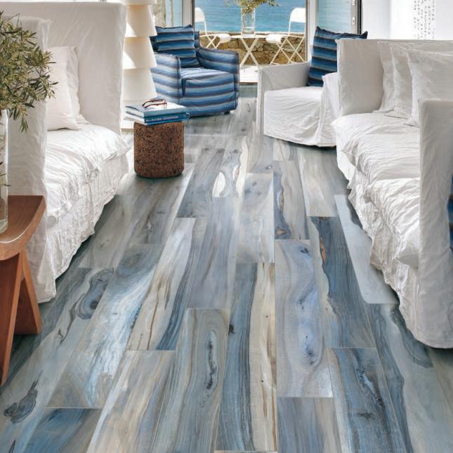 Kauri Collection La Fabbrica Tasman Blue Porcelain Tile Wood