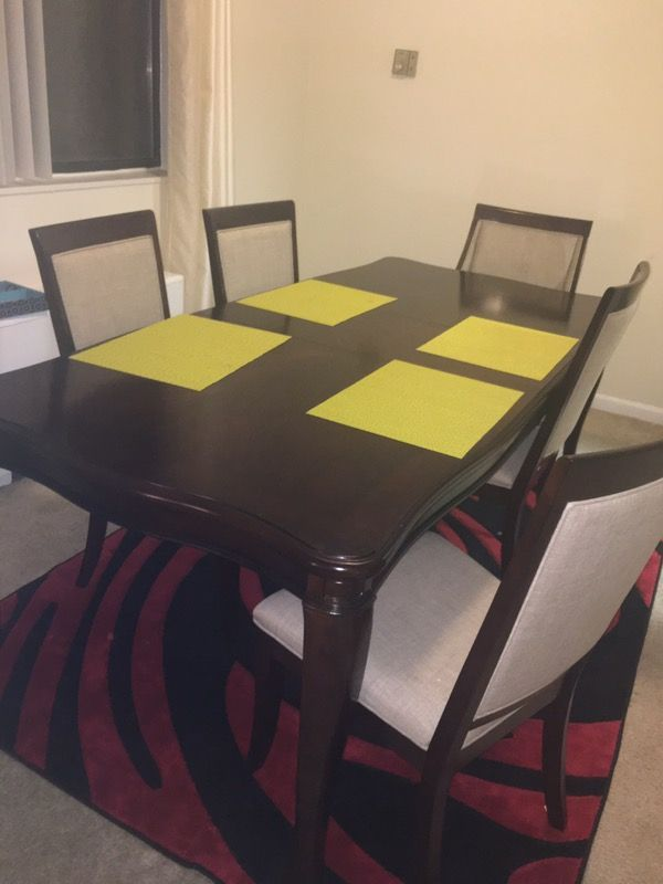 Dinning Table 7 Piece Dining Set With 4 Side Chairs 2 Swoop