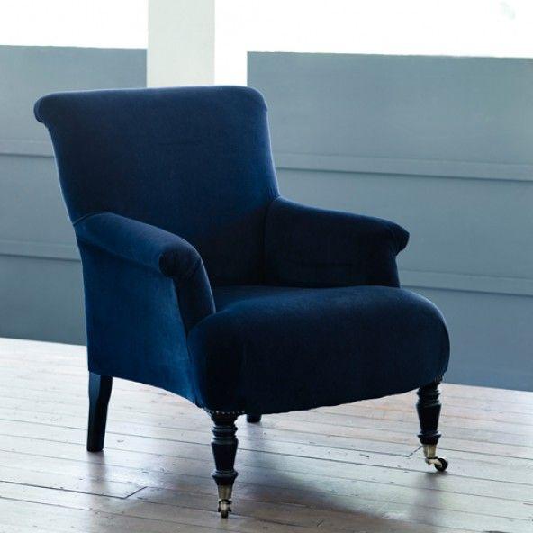 Finley Velvet Armchair Midnight Blue Dekorasyon Blue Velvet