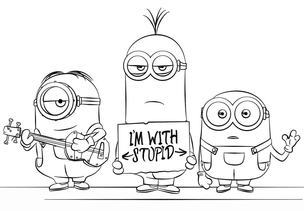 Gru And Minions Coloring Pages Minions Coloring Pages Minion