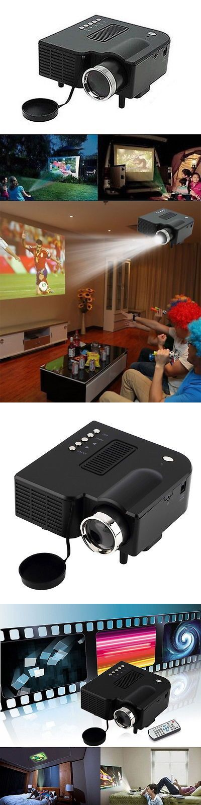 Home Theater Projectors: Mini Portable Home Theater Cinema Proyector Projector Vga Usb Sd Av Hdmi 1080P T BUY IT NOW ONLY: $34.89