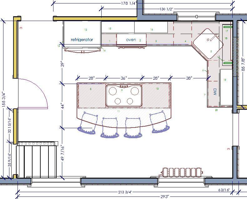Floor Plans With Island Craftman Kitchen Design Floorplan Kitchen Layout Plans Kitchen Design Plans Kitchen Designs Layout