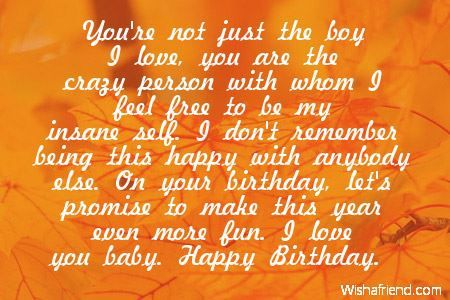 Tremendous Happy Birthday Quotes For Boyfriend Images Happy Birthday Quotes Personalised Birthday Cards Paralily Jamesorg