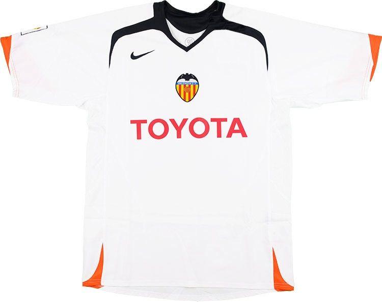 Valencia CF (Spain) - 2005 2006 Nike Home Shirt Camisas De Futebol 9bc2a75ab7a35