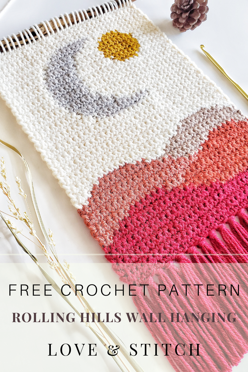 The Rolling Hills Wall Hanging Crochet Pattern