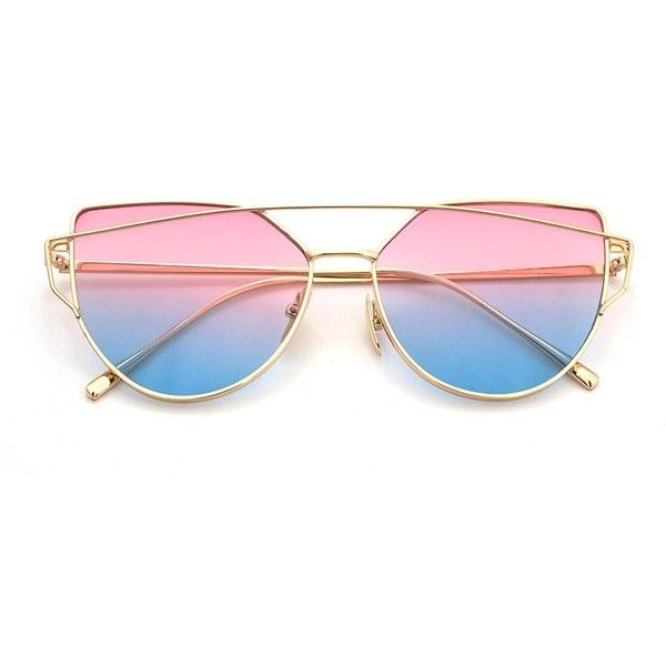 Rose Blue Lenses Cat Eye Sunglasses Women Sunglasses Double Deck Alloy 23 Bam Liked On Polyvore Cat Eye Sunglasses Women Cat Eye Sunglasses Blue Lenses