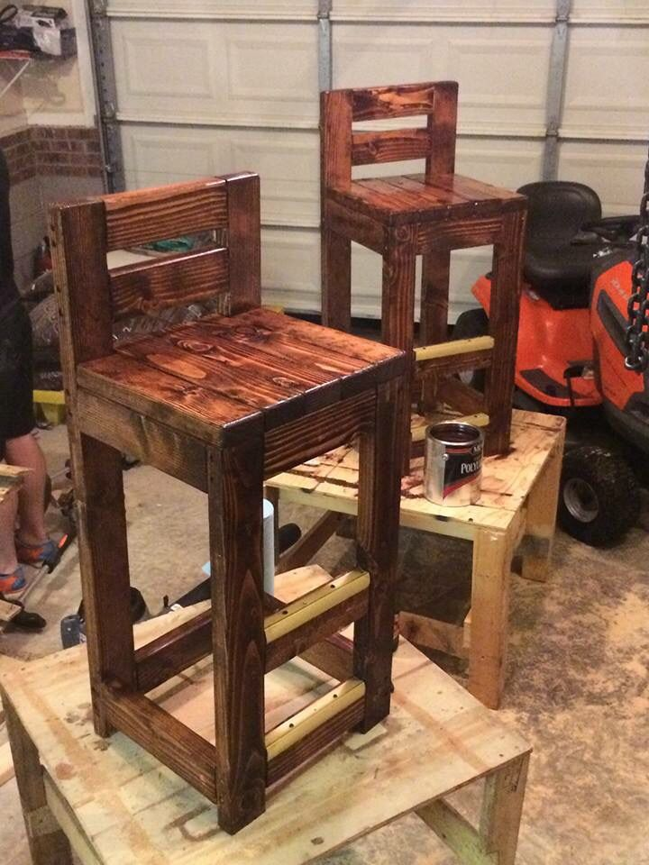 diy pallet bar stools wood pinterest pallet bar