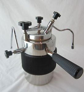 Coffee Maker On Gas Stove : Vintage Vesubio Stove Top Espresso Cappucino Coffee Maker Frother Italy COFFEE MAKERS ...