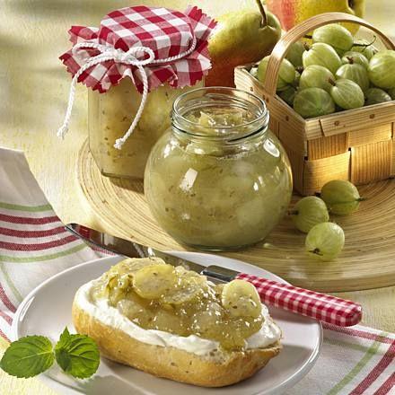 stachelbeer birnen marmelade rezept marmelade pinterest. Black Bedroom Furniture Sets. Home Design Ideas