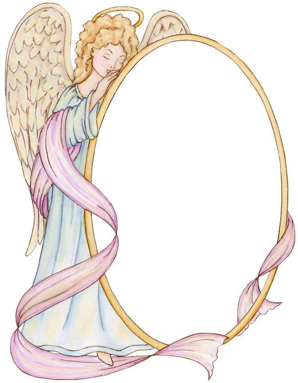 Angel Frame | COLOR&CLIP ART-Angels/Fairies | Pinterest | Angel ...