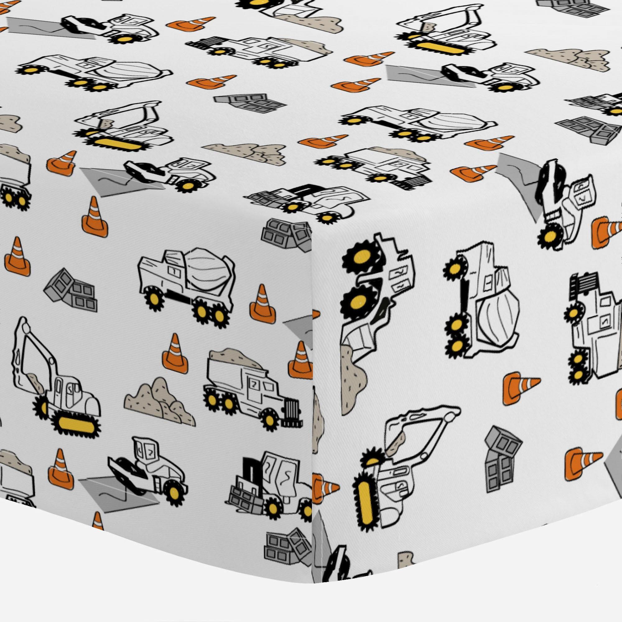 Carousel Designs Construction Trucks Toddler Bed Comforter