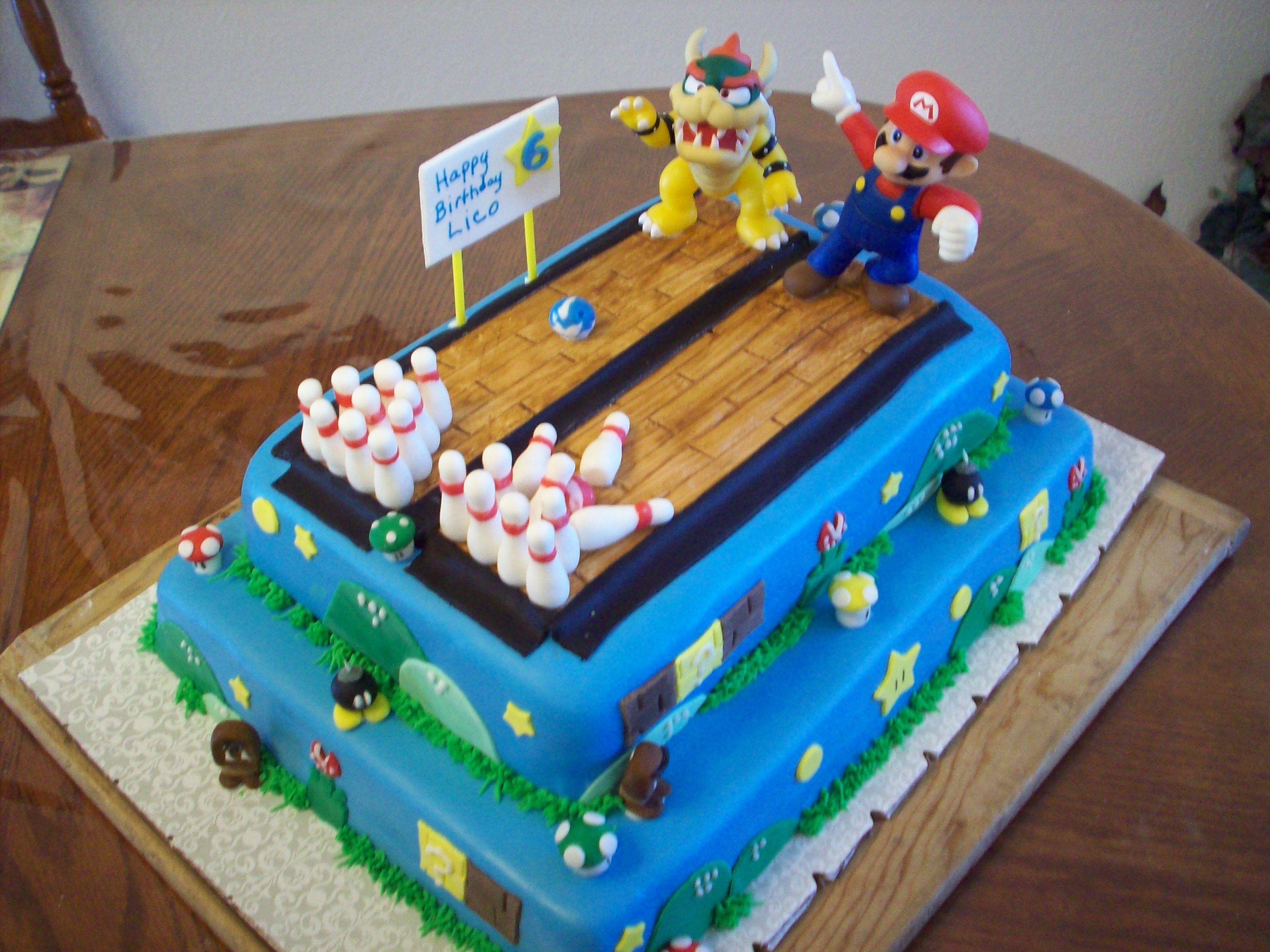 Super Mario Bowling Cake