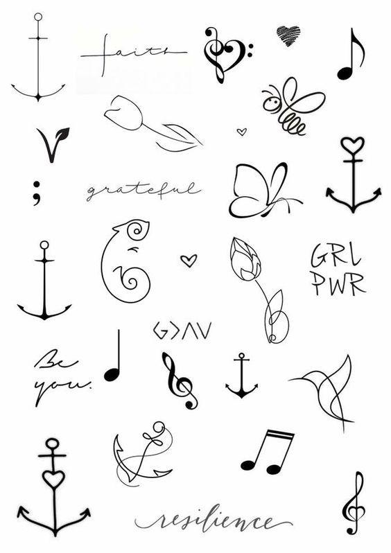 Tatuagens Pequenas E Delicadas De 120 Modelos De Desenhos