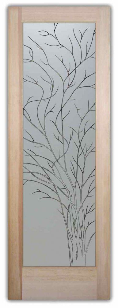 Frosted Glass Pantry Door   Wispy Tree By Sans Soucie   Design Your Glass  Pantry Door