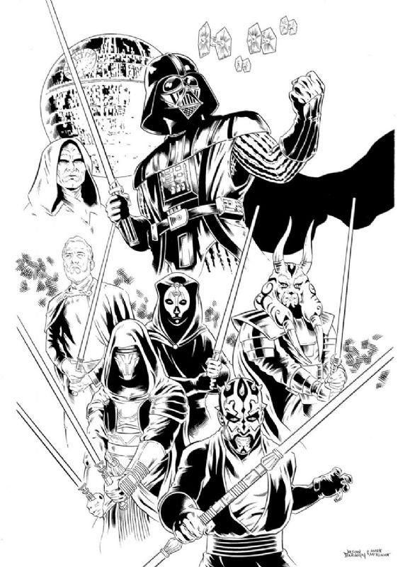 Star Wars Sith Lords By Jason Baroody And Mark Mckenna Star Wars Coloring Book Star Wars Artwork Star Wars Drawings