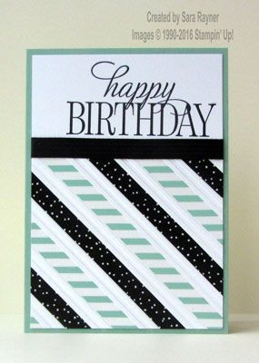 Washi-tape Wednesday – tape on embossed stripes (S