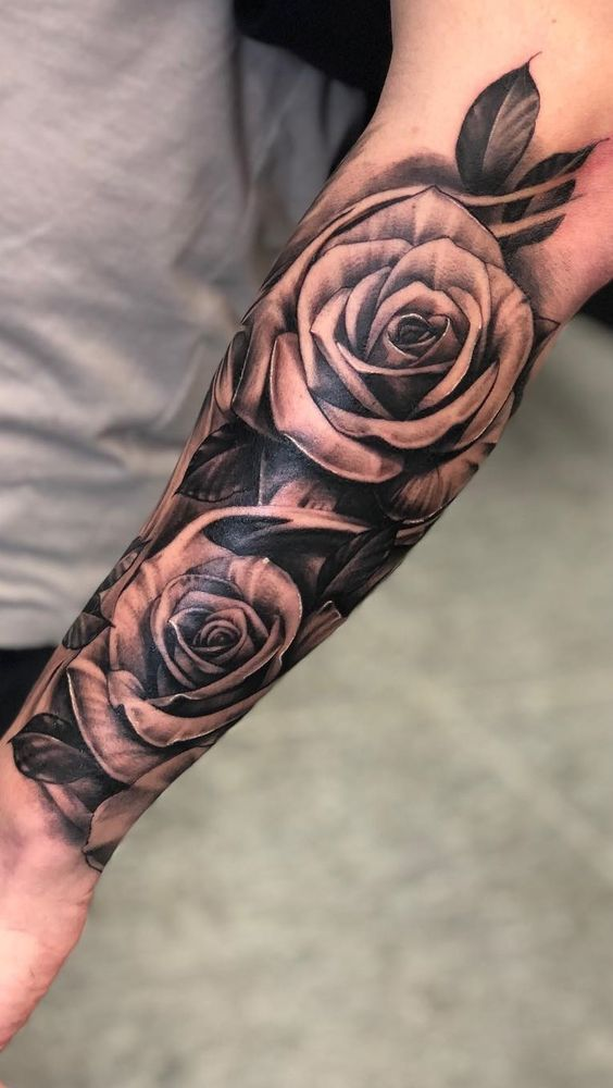 Faser Faser Tatuaje De Rosa En El Antebrazo Hombres Tatuajes Tatuajes Para Hombres En El Antebrazo