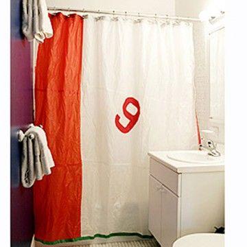 Recycled Sailcloth Shower Curtain Feel The Salt Spray Every