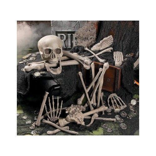 Halloween Bag Of Foam Skeleton Bones Spooky Scary Graveyard Haunted - decorate halloween bags