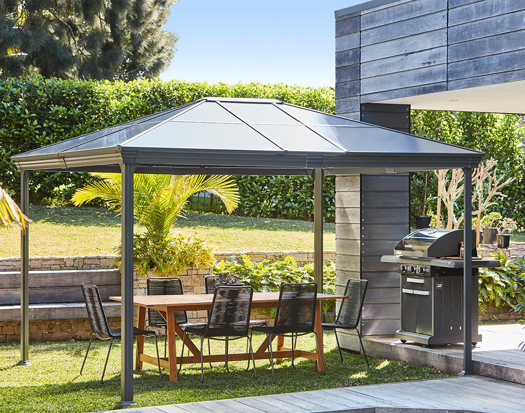 Outdoor Blinds Bunnings Entertain Comfortably Outdoors With The Mimosa Gazebo Bunnings