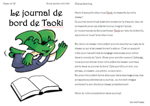 journal de bord de taoki