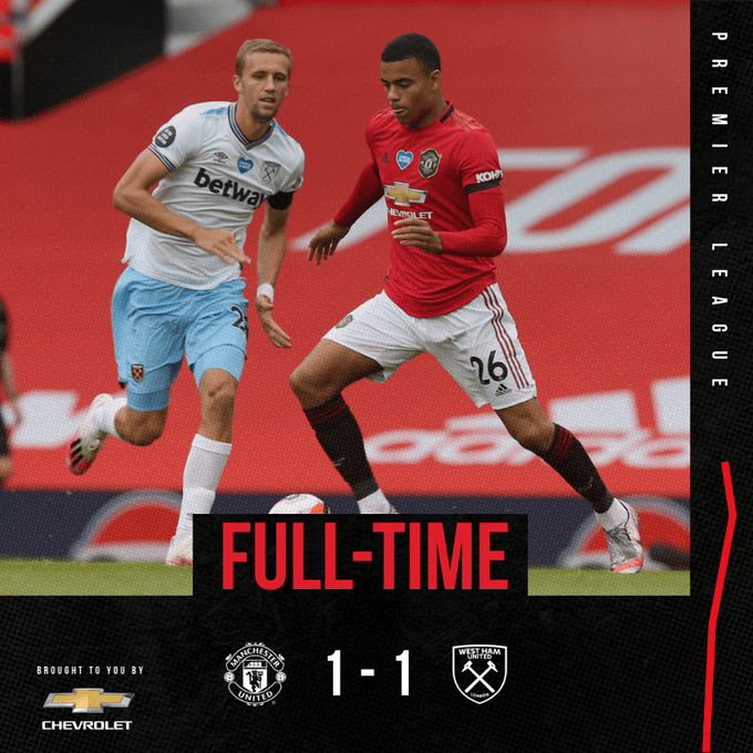 Manchester United Vs West Ham 1 1 Highlights Download Video In 2020 Manchester United Manchester The Unit