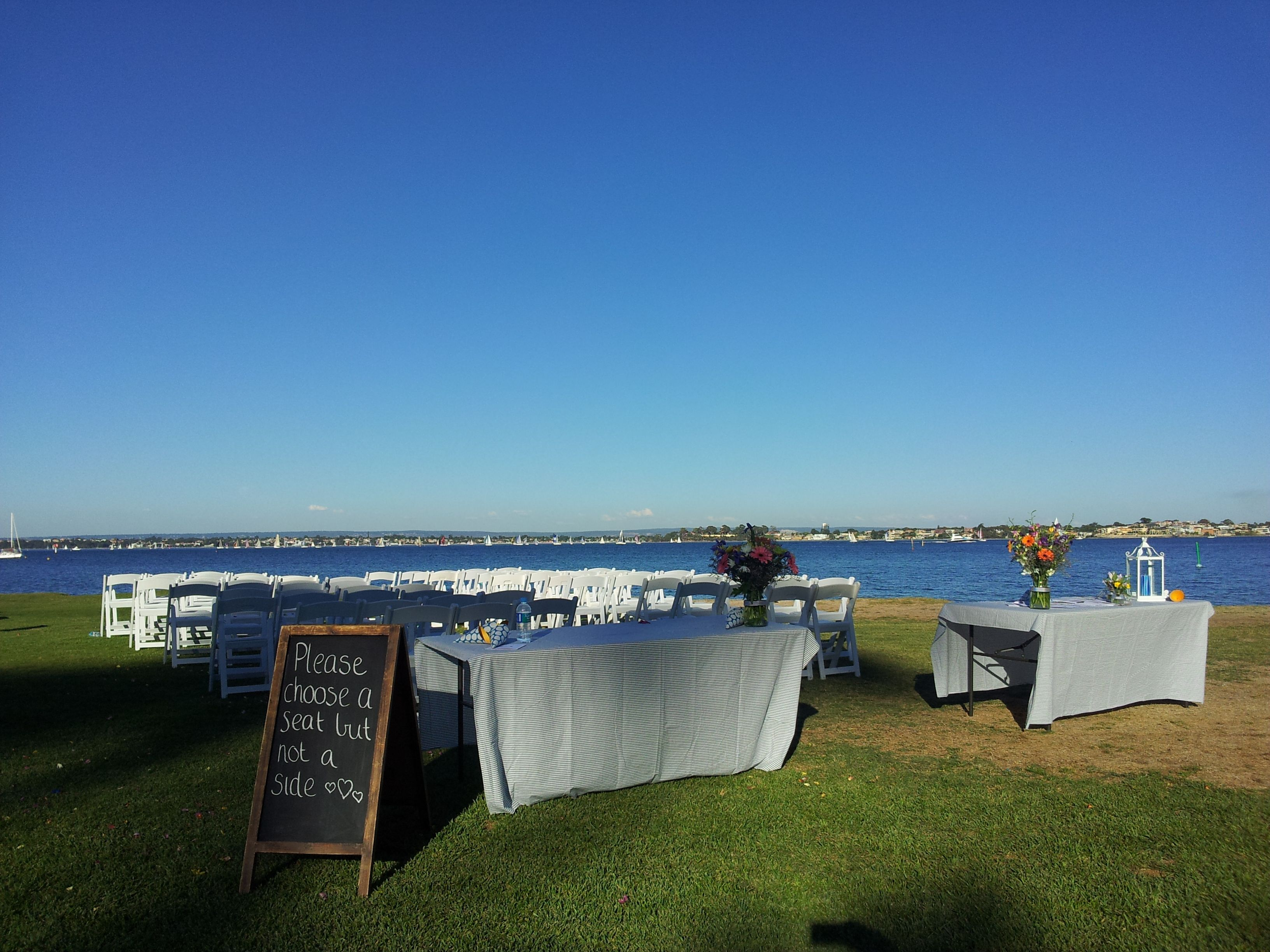 Decor By Sweethearts Wedding Hire At Nedlands Yacht Club April 2014