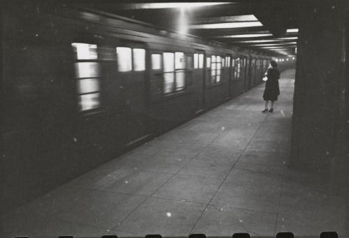 """ Stanley Kubrick, Subway, NYC, 1946 """