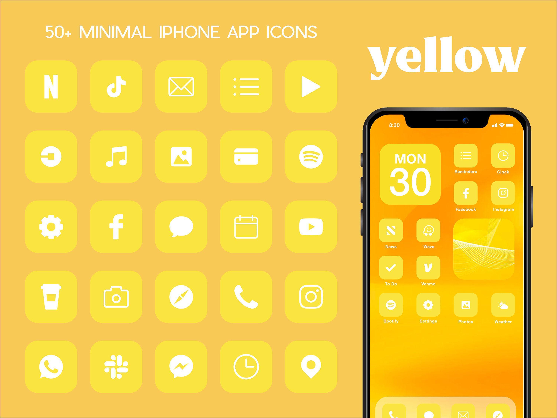 Ios Yellow App Icons 230 Gold Minimal Ios 14 Modern Icon Etsy App Icon Iphone Wallpaper App Iphone Icon